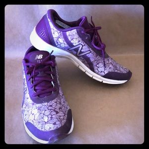 NEW BALANCE 711 Purple Floral Athletic Sneaker